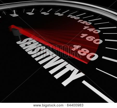 Sensitivity Word Speedometer Measuring Level Feeling Emotion