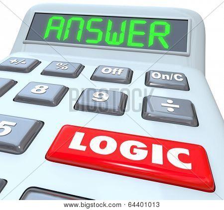 Logic Word Calculator Answer Equation Solution