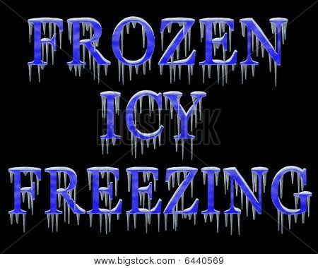 Freezing Title Headings With Ice And Snow