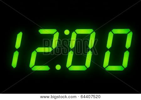 Digital Clock Display On 12