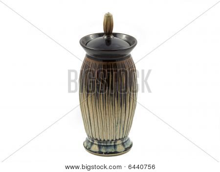 Vase With A Lid - Isolated