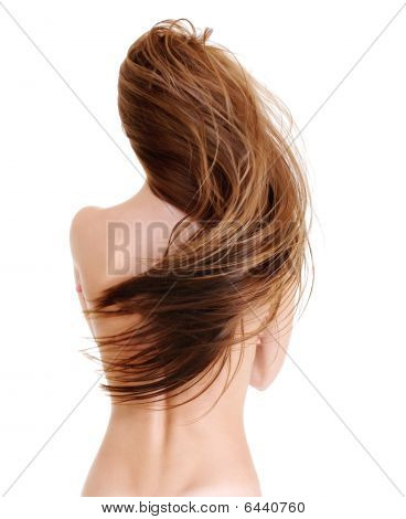 Beauty Straight Female Hairs In Wave Shape