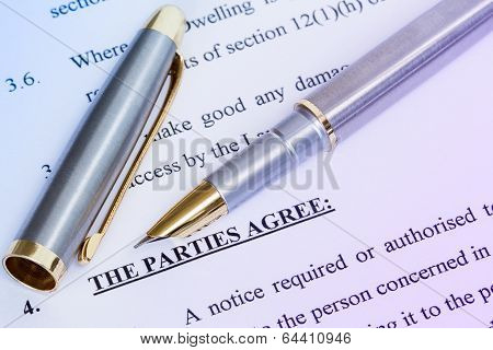 Agreement  And Metal Pen
