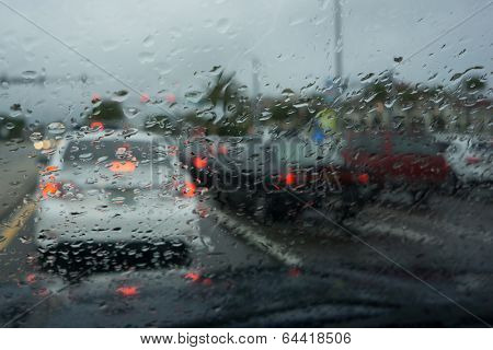 Traffic in the Rain.