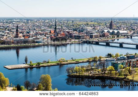 Panorama Of Riga City. Latvia