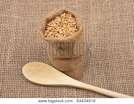 Cereal Bag On Jute