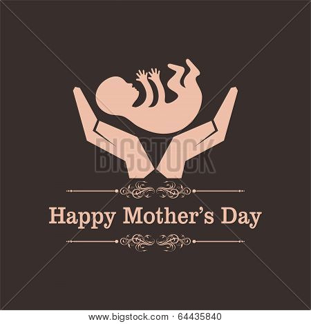 Happy mothers day greeting with caring concept stock vector