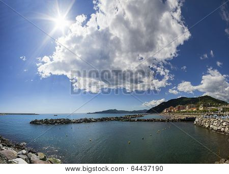 coast of Chiavari, Liguria, Italy