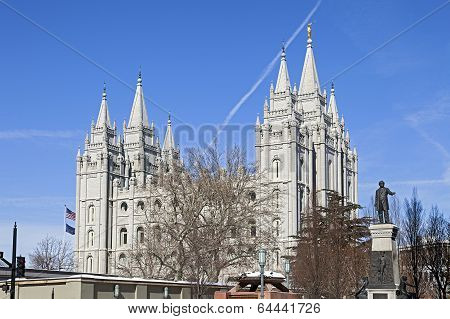 The Salt Lake Temple in Utah