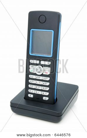 A wireless phone with LCD standard DECT. poster