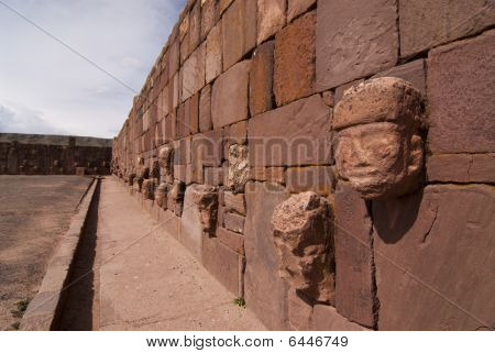 Semi-subterranean Temple In Tiwanaku, Bolivia.