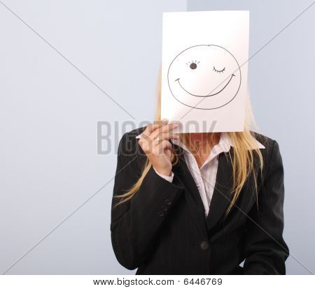 Blonde Women Shere The Smiley Mood