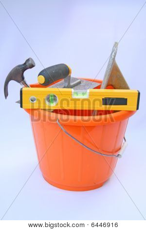 Builders bucket and tools.