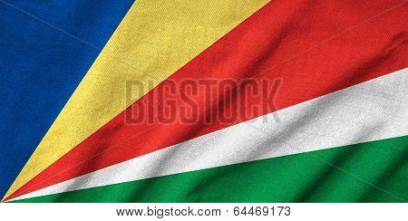 Ruffled Seychelles Flag