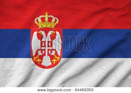 Ruffled Serbia Flag