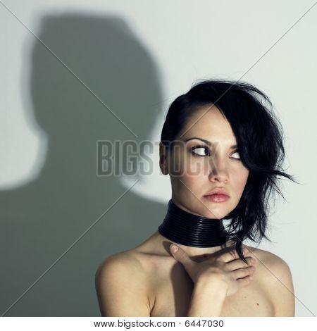 Woman With Modern Jewelry