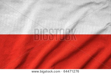 Ruffled Poland Flag