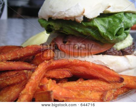 Burger And Sweet Fries