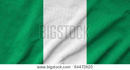 Ruffled Nigeria Flag