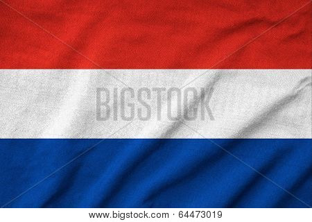 Ruffled Netherlands Flag