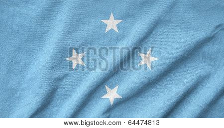 Ruffled Micronesia Flag