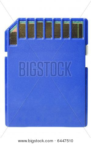 blau sd Card on White with Clipping path