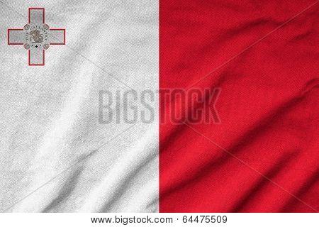 Ruffled Malta Flag