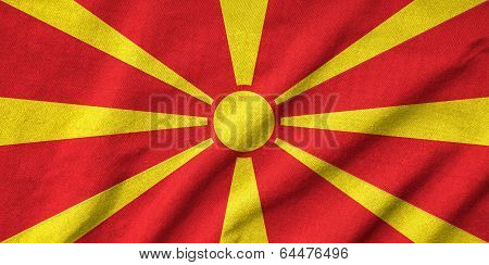 Ruffled Macedonia Flag