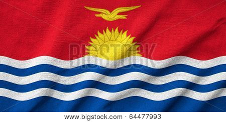 Ruffled Kiribati Flag
