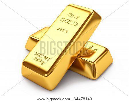 Group of gold ingots