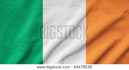 Ruffled Ireland Flag