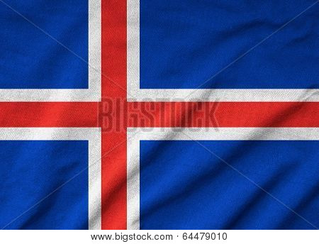 Ruffled Iceland Flag
