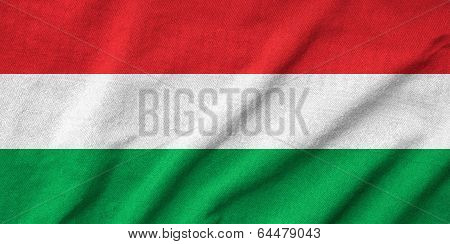Ruffled Hungary Flag