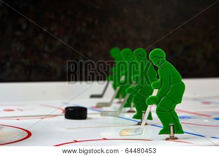 Best hockey players with puck in line poster