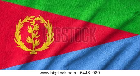 Ruffled Eritrea Flag