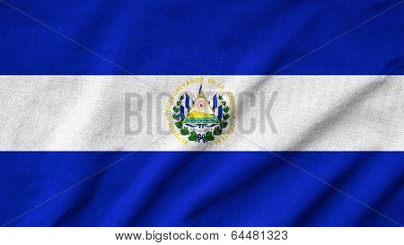 Ruffled El Salvador Flag