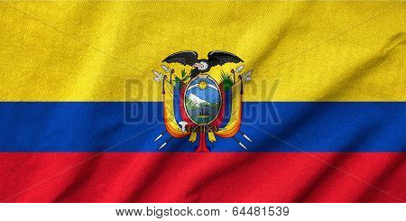 Ruffled Ecuador Flag