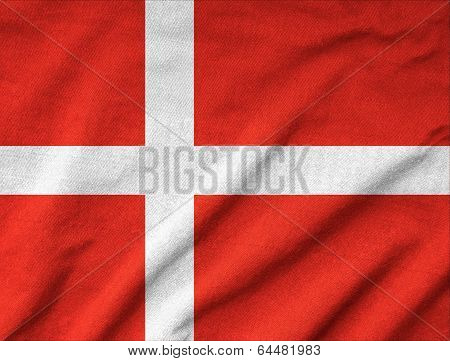 Ruffled Denmark Flag