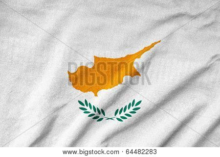 Ruffled Cyprus Flag