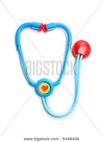 Isolated Plastic Toy Stethoscope