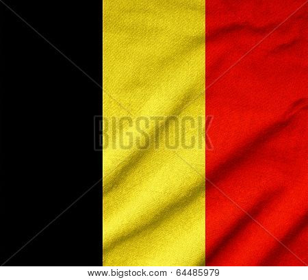 Ruffled Belgium Flag