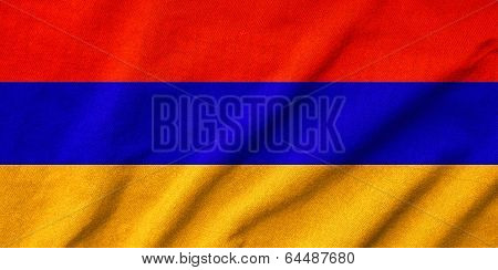 Ruffled Armenia Flag