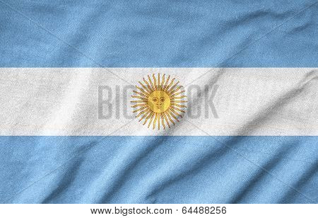 Ruffled Argentina Flag