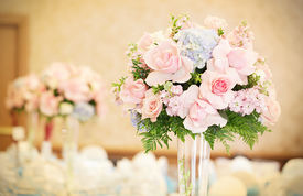 Formal Reception Hall Flowers
