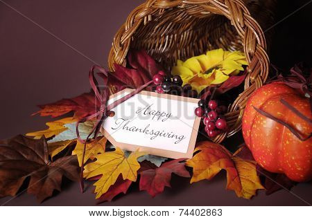 Thanksgiving Cornucopia Table Centerpiece