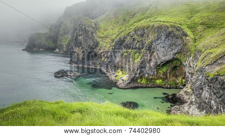 An image of the cliffs at carrick a rede ireland
