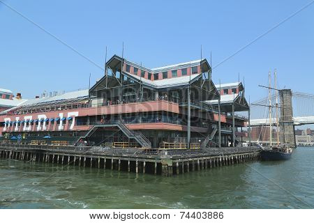 Pier 17 at South Street Seaport in Lower Manhattan