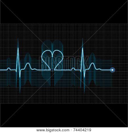 Illustration Of Medical Electrocardiogram - Ecg