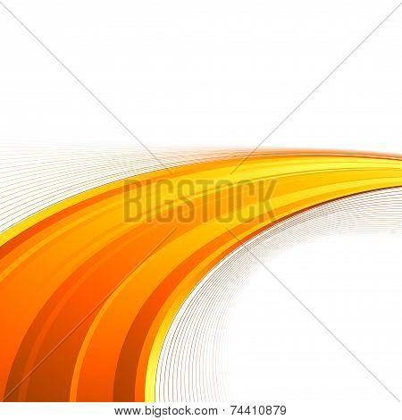 Orange Power Swoosh Wave Folder Template