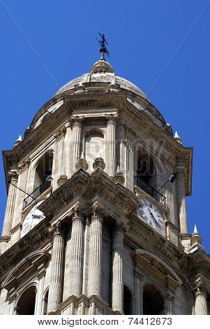bell tower, Malaga Cathedral, Spain